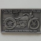 1932 Harley Flathead pin vintage motorcycle collectible old biker pinback