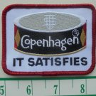 "VINTAGE COPENHAGEN ""IT SATISFIES"" CLOTH IRON-ON PATCH 3.25""X2.5"""