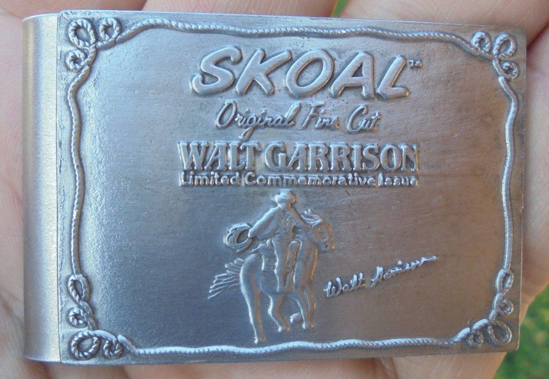 """SKOAL""""WALT GARRISON"""" MONEY CLIP NEAT! """"NEW/UNUSED"""""""