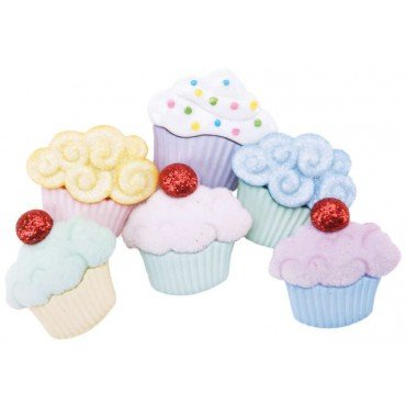 Cupcakes Novelty Buttons - Sewing Craft Supplies