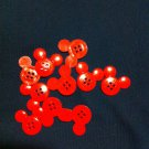 Mickey Mouse Red Plastic Buttons - Sewing Craft Supplies