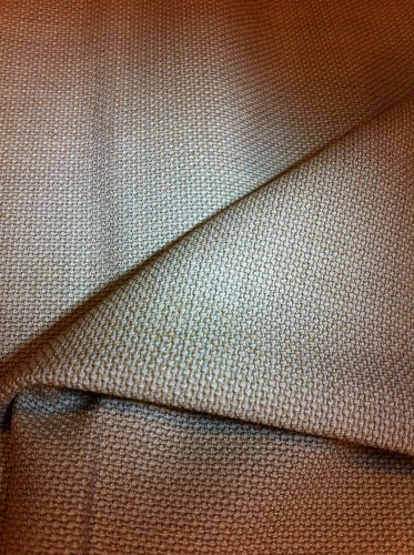 BTY Gold and Ivory Wool Suiting Fabric - By The Yard Sewing supplies