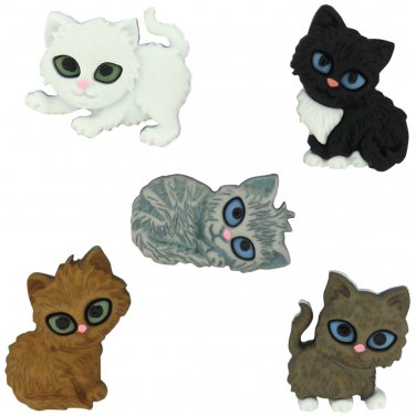 Kitten Kaboodle Novelty Buttons - Plastic Buttons