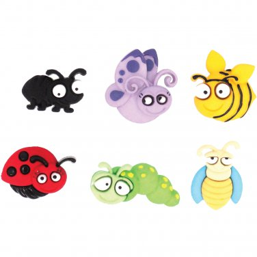 Eyed Bug Novelty Buttons - Plastic Buttons Sewing supplies