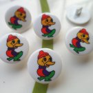 Ugly Duckling Novelty Buttons - Plastic Buttons sewing supplies