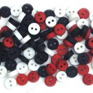 Mini Patriot Plastic Buttons - Sewing craft supplies