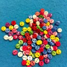 Mini Mini Mini MulticolorPlastic  Buttons- Sewing Craft Supplies