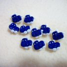 Cute Blue Hippos Novelty Buttons - Plastic Buttons Sewing Craft Supplies