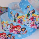 Disney Princess Ariel Cinderella Snow White Jasmin Printed Grosgrain Ribbon- DIY