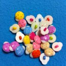 White Body LadyBugs Multicolor Novelty Buttons - Plastic Sewing craft supplies