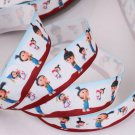 Cute Agnes Despicable ME On White Printed Grosgrain Ribbon - DIY