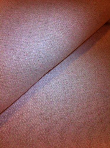 Coral Herringbone Wool Fabric -  Half Yard sewing supplies