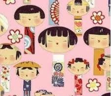 Yuikokeshi Japanese Pink Cotton Fabric - Half Yard sewing supplies
