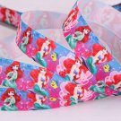 "Disney The Mermaid Ariel Printed Grosgrain Ribbon/7/8"" (22mm) width /Hair bow DIY/5YARDS"