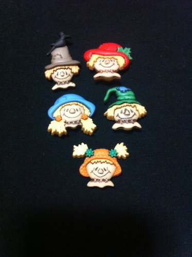 Scarecrow Faces Plastic Buttons/ Sewing supplies /Novelty Buttons / Party Supplies