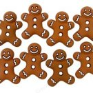 Gingerbread with white trim Cookies novelty Buttons - Plastic Buttons