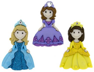 Pretty Princess Plastic Buttons/Sewing supplies/Novelty Buttons/Party Supplies/Kids supplies