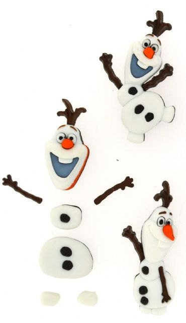 Olaf Snowman Plastic Buttons Novelty Buttons/Sewing supplies/DIY craft supplies/