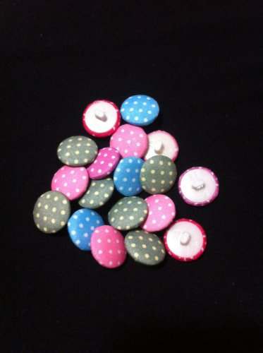 Multicolored Acrylic Fabric Covered Buttons/Sewing Supplies/DIY Craft supplies/20 Pieces