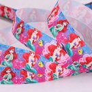 "Disney The Mermaid Ariel Printed Grosgrain Ribbon/7/8""(22mm)width /Hair bow DIY/3YARDS"