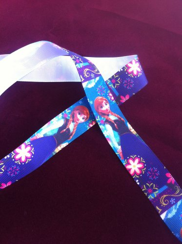 "Disney Frozen  Princess Anna Party Dress Grosgrain Ribbon/1""width/DIY Hair Bow/3 YARDS"
