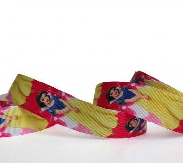 "Disney Princess Snow White Party Dress Grosgrain Ribbon/1""width/DIY Hair Bow/3 YARDS"