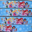 "Disney Princess Ariel Cinderella Snow White Jasmin Printed Grosgrain Ribbon/1""(25 mm) width/3YARDS"
