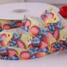 Cute Jumbo Elephant Printed Grosgrain Ribbon/5Yards/DIY Hairbows