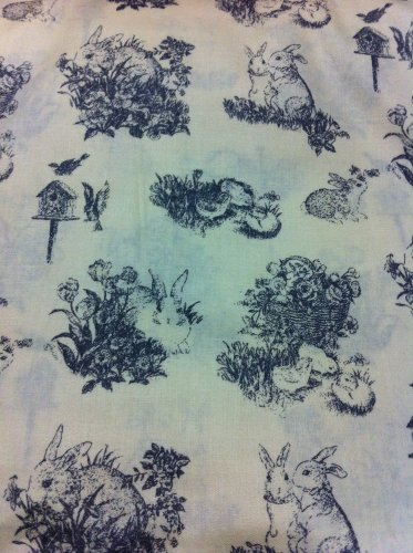 Easter Clasic Toile  Cotton Fabric/Sewing craft supplies/Apparel Fabric/Quilt 100% Cotton Fabric