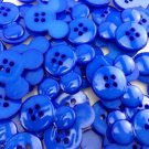 Mickey Mouse Deep Blue Plastic Buttons/Sewing Craft Supplies/Scrapbooking