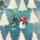 BTY Christmas Snowmen White Trees Cotton Fabric/Sewing Craft Supplies/Seasonal Fabric