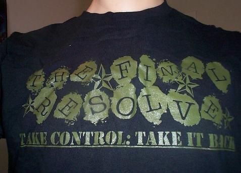 Take Control: Take it Back shirt SMALL