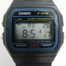 CASIO F-91W ALARM CHRONOGRAPH DIGITAL WATCH