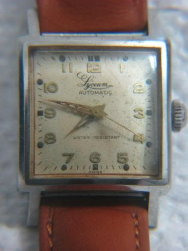 RARE LYCEUM AUTOMATIC WATER RESISTANT MEN'S SWISS WATCH