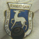 BOWLING CLUB RAMAT GAN ENAMEL BADGE PALESTINE ~ SCARCE