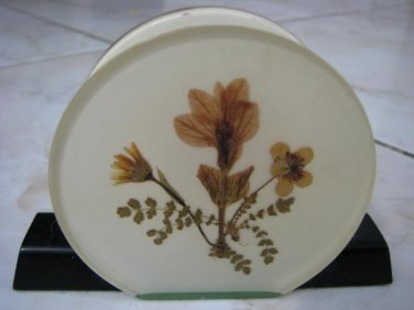 RARE FLOWERS OF ISRAEL NAPKIN / CARDS HOLDER 1950'S