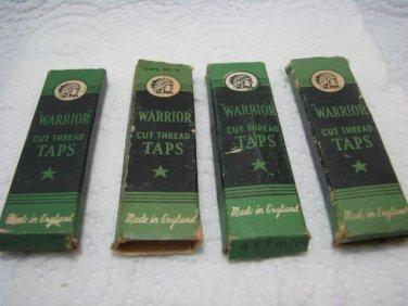 """""""WARRIOR"""" HAND THREAD TAP SET 4x7 M/M ENGLAND"""