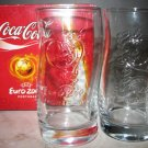 COCA COLA UEFA PORTUGAL 2004 SOCCER FOOTBALL 2 GLASSES