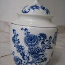 AMAZING CHINESE BLUE WHITE FLORAL PORCELAIN GINGER JAR