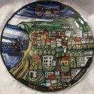 Nahariya Mayor Jackie Sabag Stained Glass Large Plate Israel