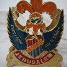 RARE ARMENIAN BOY SCOUTS ENAMEL NAPKIN HOLDER JERUSALEM