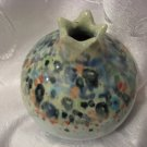 POMEGRANATE Art Ceramic Vase signed Roni ISRAEL