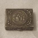 JERUSALEM Silver Plated Snuff Pill Box Vintage