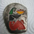 ISRAEL COURT GUARD POLICE ENAMELED PIN BADGE