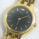 AMAZING SEIKO GOLD TONE BLACK DIAL QUARTZ LADIES WATCH