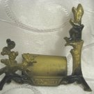 "BEAUTIFUL ""FENNEC FOX, CACTUS & BIRD"" ISRAEL SYMBOLS BRASS PICTURE HOLDER"