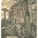 OYBIN CHURCH CLOISTER RUINS POSTCARD 1923 GERMANY