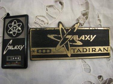 GALAXY by TADIRAN Two Vintage Refrigerator Signs ~ Original ~ Israel