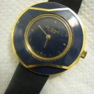 De-Coven Geneve Decoven-Vari-Watch with Navy Blue Enamel Bezel, Swiss made