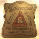 DIAMANT KNITTING MACHINES ANTIQUE BRASS MONEY CLIP BERNEMANN & KUHLMANN GERMANY
